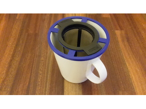 Tea strainer adapter for a large cup