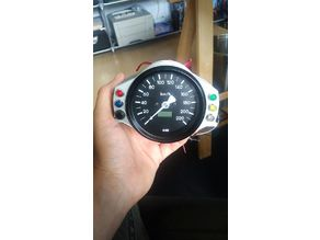 Speedometer mount for 80mm Speedo and panel LEDs for BMW vehicle