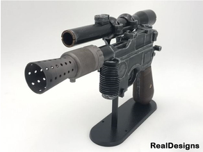 Real SHOOTING dl-44 blaster from star wars