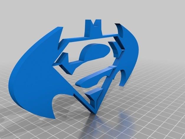 Batman Vs Superman Logo By Neatobrian Thingiverse
