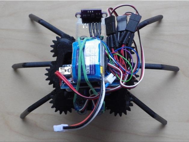 Hexapod robot New mechanism! (Arduino) by ProjectEpsilon