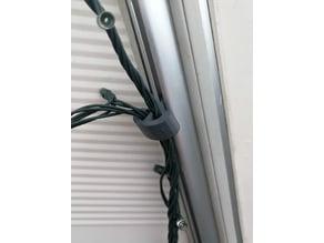 Caravan awning rail fairy light clip