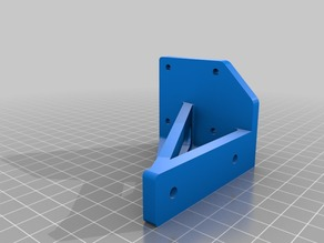 CR-10 y-stepper damper brace/stiffening (compatible with Ultimate Leveling Knobs)