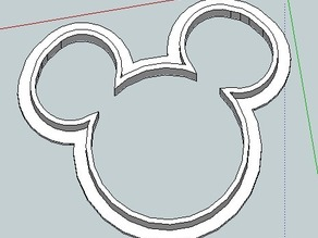 Cartoon Mouse Cookie Cutter