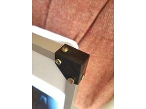 Corners for frames aluminum profile 15 * 10 * 10mm