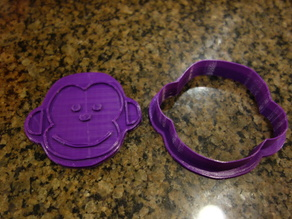 Monkey cookie cutter and stamp