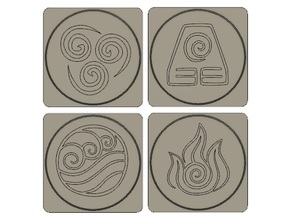 Avatar Element Coasters