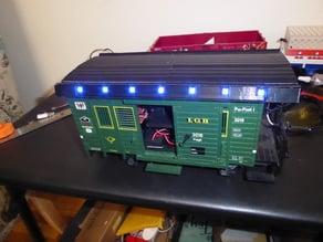 Train Lights Postcar