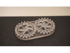 CNC Acrylic Gear Train
