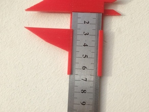 Calipers, attachment for a ruler