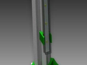 LEDBERG Clip holder for 20x20 Aluminium Profile, 45deg.