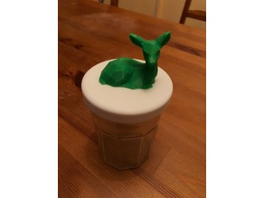 Low Poly Fawn on Jam Jar Lid
