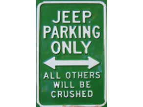 jeep parking sign