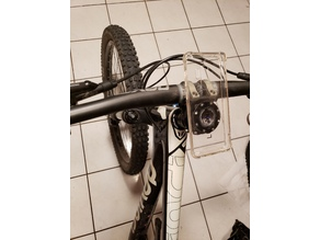 Bike stem phone mount