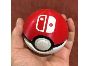 Functional Pokéball - Nintendo Switch Game Cartridge Case (remix)