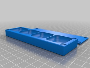 4x1 30x30mm Screw Tray with magnetic lid