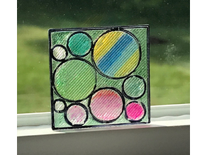 Stained Glass or Sun Catcher Prototype - Circles