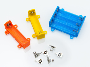 Parametric Spring Contacts Battery Box for AA Cells