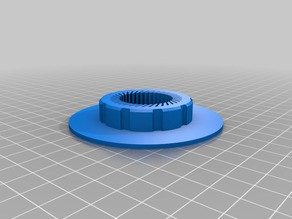 """Tension Nut with Flange for 3/4"""" PVC Pipe"""