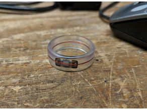 RFID NFC Tap and Go Credit Card Payment Resin Ring