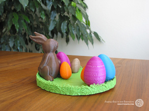 Easternest with Easter Bunny and Eggs