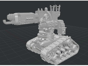 Rather heavy skull tractor with plasma slinger