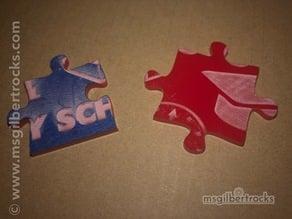 Laser Cut Acrylic Puzzle
