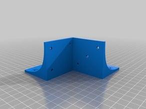 Square leg support, customizable, e.g., for Ikea Lack