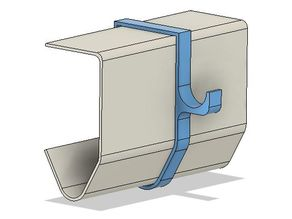 Garage-Door Rail Clip
