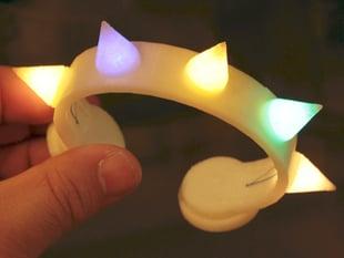 RGB LED Punk Spike Bracelet