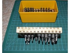 laser cut bit holder allit box 4 x 11 plywood