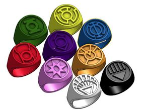 Green Lantern Inspired and All Corps Rings
