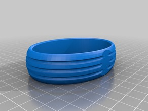 Bracelet with grooves for hair elastics