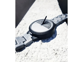 Mechanical Sun Dial Watch