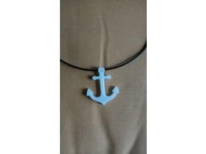 Anchor_pendant/bracelet/keychain by TDesign