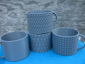 Simple Decorated Cups or Mugs