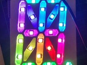 16 segment display for ws2812b LEDs