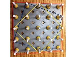 Geoboard, Geometric Board, Cartesian, Isometic, Circular, Geometry, Math