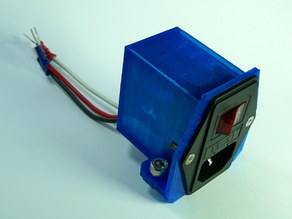 Customizable V-Slot Power Plug Cover/Mount