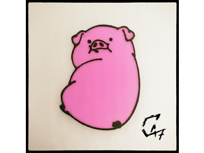 Waddles - fridge magnet