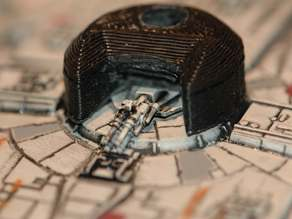 "X-Wing miniature game / ""Millenium Falcon"" hullmount strengthener"