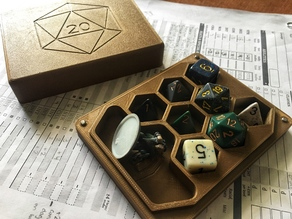Dice Holder + Mini Case with Rolling Tray
