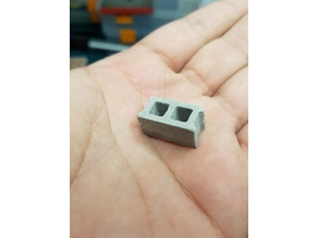 Concrete Cinder Block mold 1/20