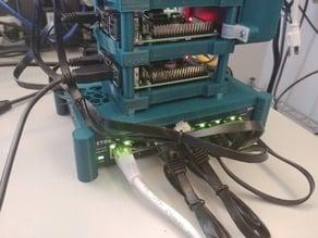 Raspberry Pi Rack - Netgear GS108 Stand