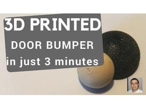 Decorative DOOR STOPPER / DOOR BUMPER (FreeCAD tutorial) - smooth outlook