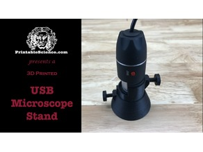 3D Printed USB Microscope Stand