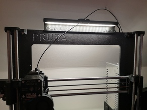 PRUSA dubbelsided LED bar with filament guide