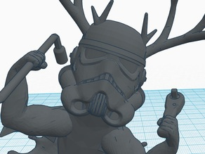 Beefy sharktrooper with antlers, NASA wrench and Barbie's tire iron