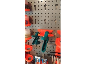 Clamp Holder for Metric Pegboards