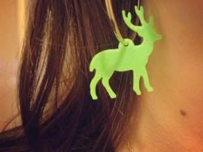 Reindeer Christmas Earring
